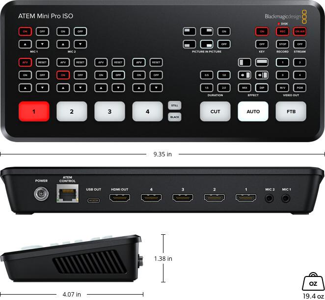 Blackmagic Design ATEM Mini Pro ISO rental