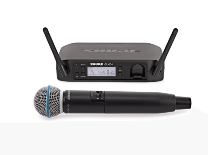 Shure GLX beta SM58 Radio Microphone Hire
