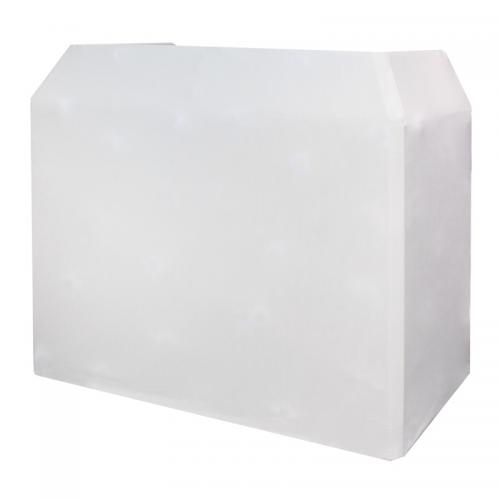 White DJ booth Hire