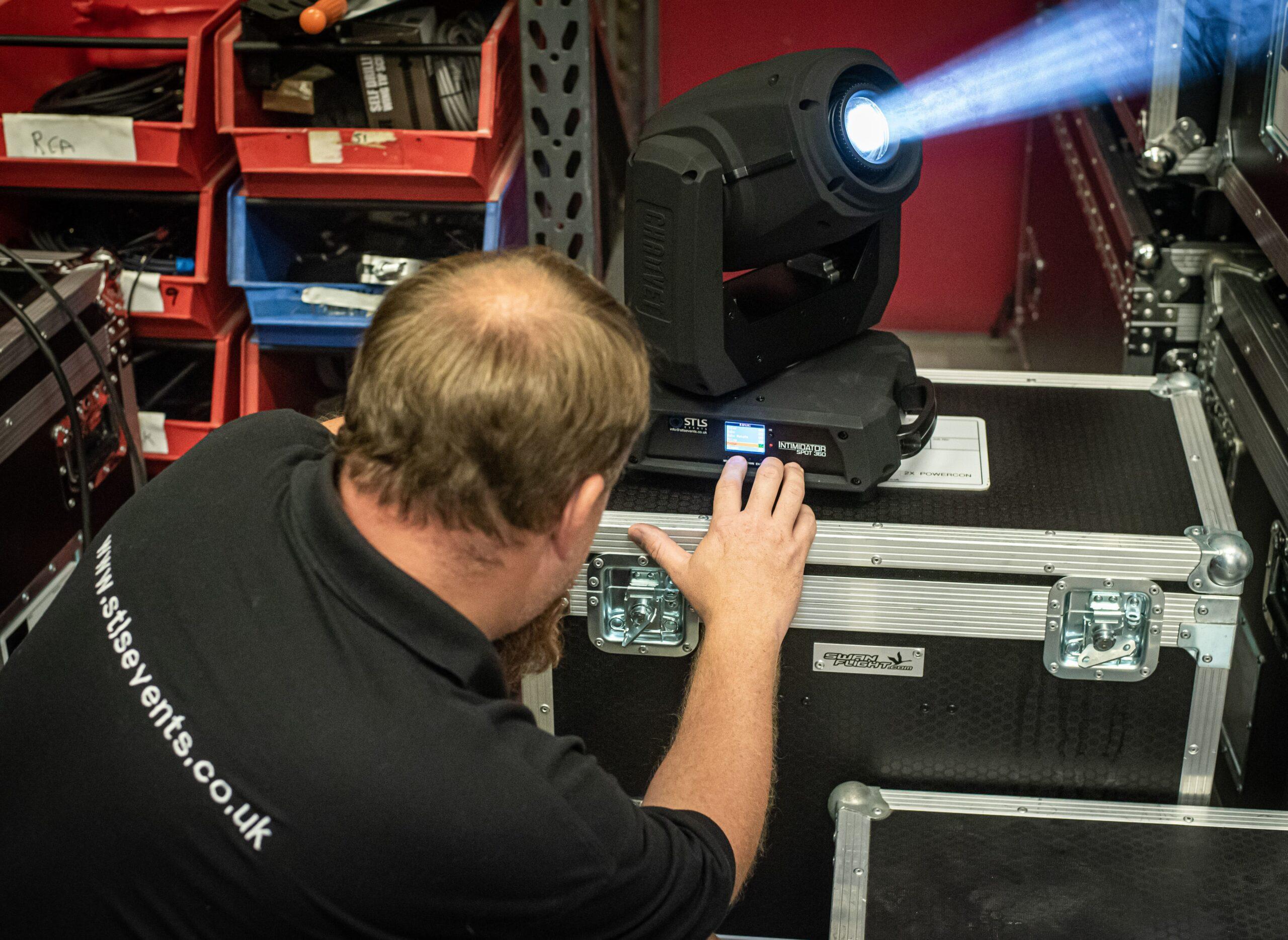 Stage lighting PAT testing London Surrey